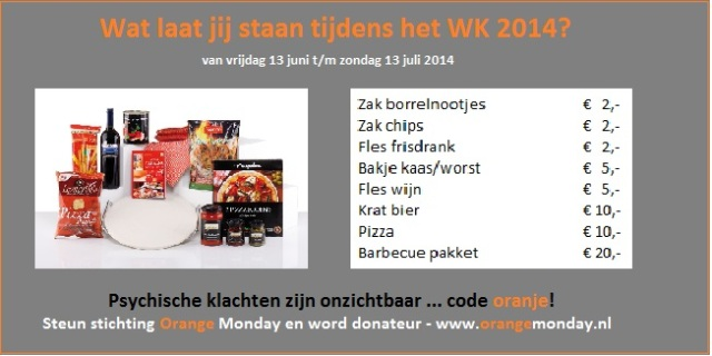 Orange Monday - banner blog Kika - WK actie code oranje 2