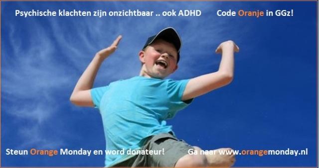 Blog ADHD hyperactieve jongen - Steun Orange Monday met tekst en lijn